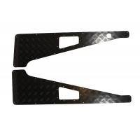 3mm Black Wing Top  Chequer Plate with Aerial Hole suitable for Defender vehicles