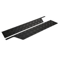 2mm Front Door Black Chequer Plate Kick Plates suitable for Defender vehicles