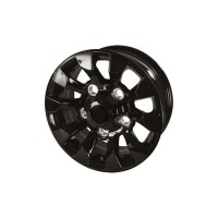 16'' Black Sawtooth Style Alloy Wheel suitable for Defender, Discovery 1 & Range Rover Classic vehicles