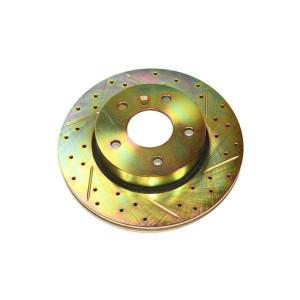 Terrafirma vented front cross drilled and groved brake disc (P38)