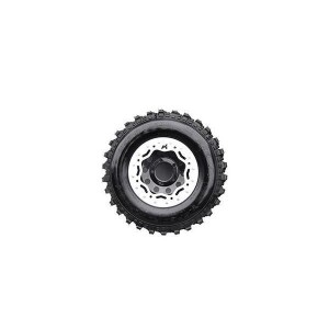 Terrafirma Modular steel beadlock wheel (Black and Silver)