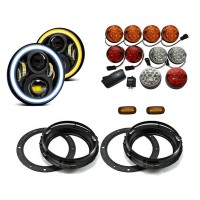 Land Rover Defender Halo LED Light Package - Colour Full