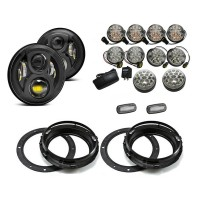 Land Rover Defender EVO LED Light Package - Clear Full