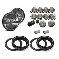 Land Rover Defender Lite LED Light Package - Clear Full