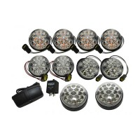 Land Rover Defender LED Wipac Deluxe Clear Upgrade Lamp Light Kit
