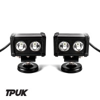 Land Rover Defender 20W 6500K Black Series LED Light Bar (Pair)