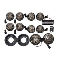 Land Rover Defender LED Wipac Deluxe Smoked Upgrade Lamp Light Kit