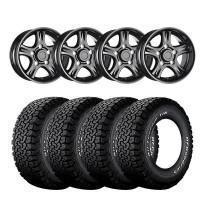 18″ X 9″ VBS NEMESIS BLACK ET10 WITH: 265/65/18 B F Goodrich T/A KO 2 All Terrain 117R