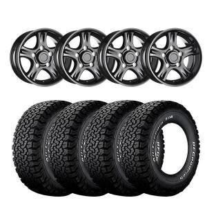 16″ X 8″ VBS NEMESIS BLACK ET10 WITH: 265/75/16 B F Goodrich T/A KO 2 All Terrain 119R