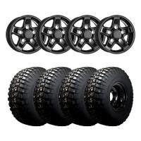 16″ X 7″ OEM STYLE BOOST BLACK ET33 WITH: 265/75/16 B F Goodrich T/A KM2 Mud Terrain 119/116Q
