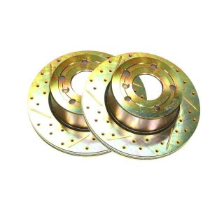 Terrafirma vented front cross drilled and groved brake disc (D2)