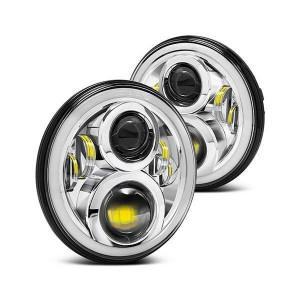 Land Rover Defender LED EVO Headlights Chrome