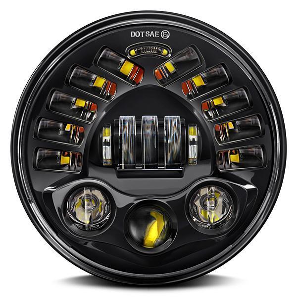 Land Rover Defender Black Projector LED Alien Headlights