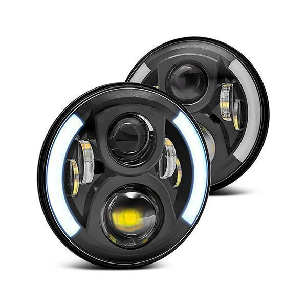 Land Rover Defender 60W LED Headlights With DRL