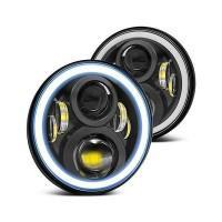 Land Rover Defender LED Projector Headlights with Halo